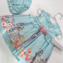 Vestido Barrado Meninas Com Flores (EM PROMOÇÃO)