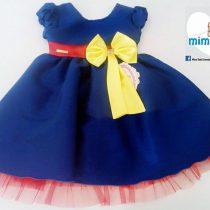 Vestido Azul Laço Amarelo – LUNA