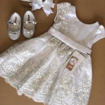 Vestido Branco com bordado prata/VESTIDO FORMATURA/DAMA