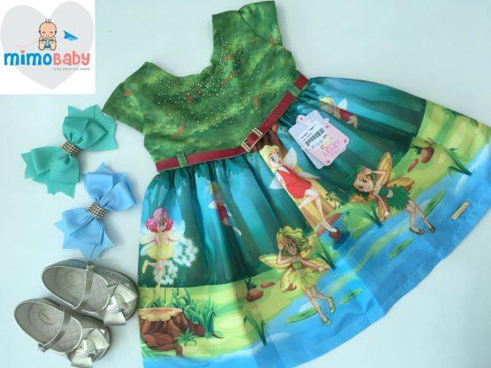 Vestido Tinker Bell/SININHO (EM PROMOÇÃO)