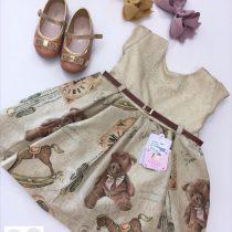 Vestido Brinquedos Vintage (EM PROMOÇÃO)