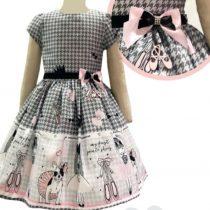 Vestido Bella Bambina xadrez Bailarina