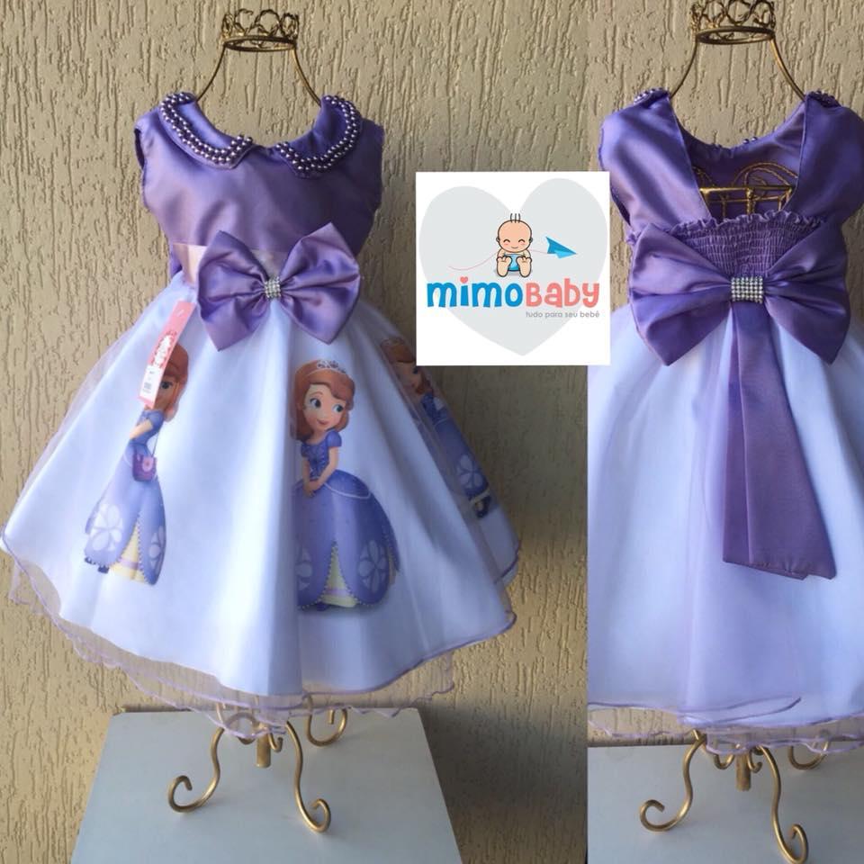 Vestido Princesa Sofia Sem Mangas