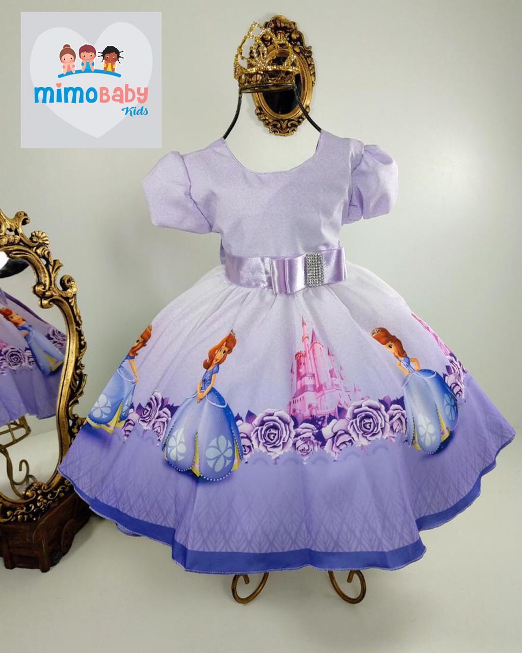 Vestido Temático Princesa Sofiaprincesinha Sofia