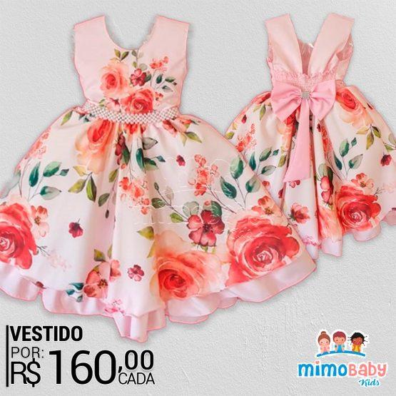 VESTIDO FLORAL ROSA / SEM MANGA