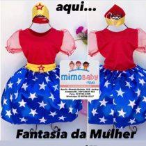 VESTIDO MULHER MARAVILHA / FANTASIA